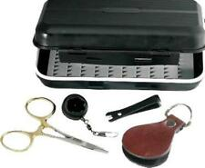 Anglerhaus Streamside 5pc Tool Kit Scissors Pliers Nipper & Fishing Fly Box