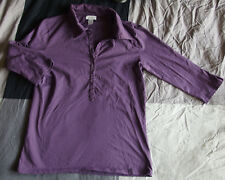 T-shirt, chemise, polo manches 3/4 violet  - Zara  - Taille L