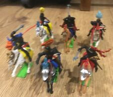 Rare VINTAGE BRITAINS DEETAIL MOUNTED BLACK KNIGHTS FULL SET OF 6