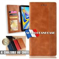 Etui coque housse Cuir PU Leather Case Motorola One Macro / Moto G8 Play, G8+