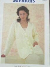 #70  knitting pattern Ladies Lacy Cable Cardigan Size 34-44