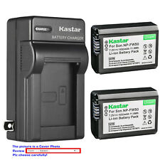 Kastar Battery AC Wall Charger for Sony NP-FW50 BC-VW1 & ILCE-6400 Alpha a6400