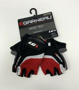 Louis Garneau Biogel RX-V Men's Small Cycling GLoves Black / Red New