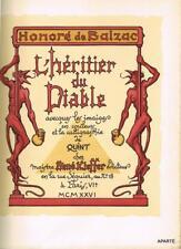 BALZAC L'héritier du Diable KIEFFER 1926 images QUINT + suite