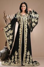 DUBAI VERY FANCY KAFTANS abaya jalabiya Ladies Maxi Dress New Wedding gown 3941