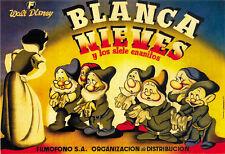 Snow White and the Seven Dwarfs (1937) Disney cartoon movie poster print 14