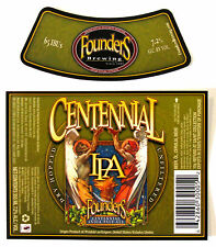 Founders Brewing CENTENNIAL IPA beer label MI 355ml with neck FOR EXPORT