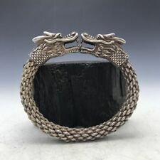 Old China's Tibet silver Copper Handmade twist-style creative Dragon Bracelet YT