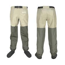 Fishing Hunting Waist Wading Clothes Waterproof Wader Pants 3 Layer Fiber