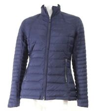 Barbour Donna Giubbotto Lady Chock Quilt  TG10 IT42 BLU CERNIERA-COLLO Pistagna