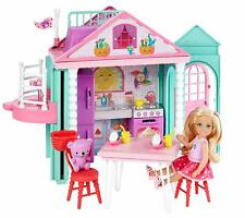 Barbie Club Chelsea Playhouse Play Set Kitchen and Furniture + Doll Girls Gift