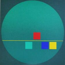 FRIEDRICH GEILER Geometric Composition 1996 HAND SIGNED SERIGRAPH German Artist