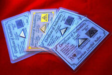 Acb or, Argent, Platine & Palladium 5GRAIN Pyramide Lingot Barres avec Coa's $
