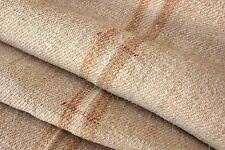 Vintage Stair Runner grain sack fabric old 6.5 Yds gold caramel homespun Washed