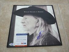 Willie Nelson Heroes Signed Autographed LP Album Record PSA Certified