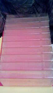(10) Video Tape VHS Hard Plastic Shake and Squeeze Protective Storage Slip Cases
