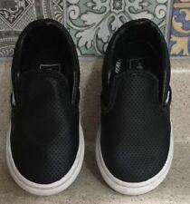 Vans Off The Wall Baby Slip On Shoes Sz 5.5 Black VANS