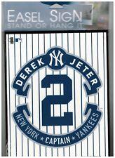 NY New York Yankees MLB Derek Jeter #2 Easel Sign JETER