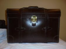 """EUC 20"""" Double Handle Lawyers and Accountants Brown Leather Bag by KORCHMAR USA"""