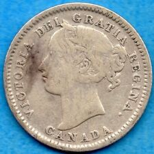 Canada 1898 10 Cents Ten Cent Silver Coin - Very Good+