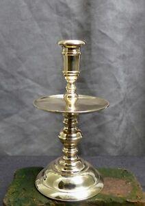 Nice Antique bronze candlestick, Dutch 17th. 18th. century