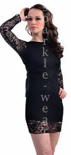 Lace Round Neck Long Sleeve Party Dresses for Women