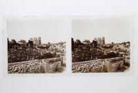 Bretagna Ville A Identificare Francia Foto Stereo 10n49 Placca Lente Vintage