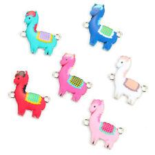 10Pcs Multi-color Sheep Enamel Alloy Connectors Charm For DIY Necklace Accessory