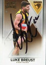 AFL Select 2019 Dominance #114 Hawthorn Luke Breust Autographed card