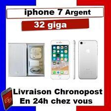 IPHONE 7 32 GO Argent Blanc Silver  Reconditionné DÉBLOQUÉ  TÉLÉPHONE 32 GIGA