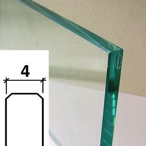 xGLASPLATTE poliert - Klarglas 4 mm ESG SICHERHEITSGLAS nach Maß (63,66€/m²)