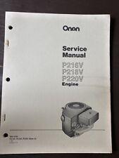 ONAN P216V P218V P220V Engine Service Manual Book Repair Overhaul Workshop Guide