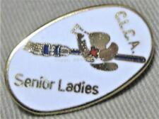 C.L.C.A. CANADIAN SENIOR LADIES CURLING ASSOCIATION Lapel Pin Mint