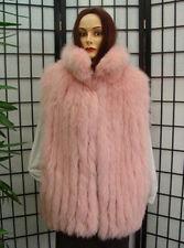 BRAND NEW CANADIAN PINK FOX FUR VEST JACKET COAT WOMEN WOMAN