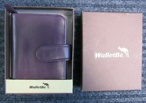 WALLETBE Leather Compact Accordion Wallet Credit Card ID COPA Purple NEW in Box