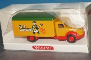 "W/ 10] WIKING 855 40 34 Box Truck Magirus "" Malt - Vollbier "" Boxed"