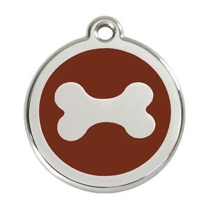 Red Dingo Dog Cat Pet ID Tags Charms FREE Personalized Engraving BONE