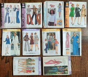 Vintage Lot (10) Patterns MISSES Size 10  MCCALLS SIMPLICITY Uncut / FF- #OO