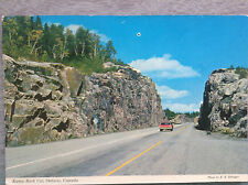 Kama Rock Cut Ontario Canada Vintage Postcard Highway 17 Lake Superior Circle