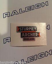 "RALEIGH CHOPPER MK1 ""STURMEY ARCHER ENGLAND"" GEAR CONSOLE DECAL IN CHROME X 1"