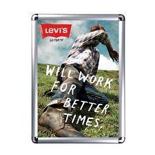 Cornice a scatto 70x100cm Portaposter per Manifesti Pubblicitá Alluminio