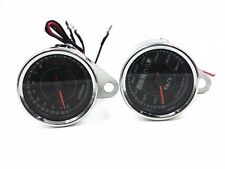 LED Motorcycle Tachometer Tacho Gauge + Odometer Speedometer Scooter Offroad ATV