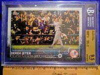 """2015 Derek JETER #/99 BGS 9.5 Topps #319 (Final Game) """"Jumbo"""" 5x7 (NY Yankees)"""
