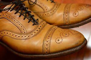 Allen Edmonds Mens Shoes Size 10.5 Strand Cap-Toe Oxford Walnut 1635 Excellent