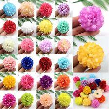 30Pcs Daisy Artificial Fake flower Silk Spherical Heads Bulk Wedding Decorate