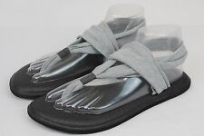 SANUK SLING  YOGA MAT STRETCH FABRIC FLIP FLOP SANDALS GRAY SIZE 9 US