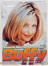 "2001 Sarah Michelle Geller Buffy Calendar - British - 11½"" x 16½"" SEALED!"
