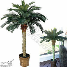 ARTIFICIAL SILK PALM Tree Indoor Tropical Decor Outdoor Plant Potted Decoration
