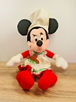 "Vintage Applause Christmas Minnie Mouse Mrs Claus 18"" Plush Doll"