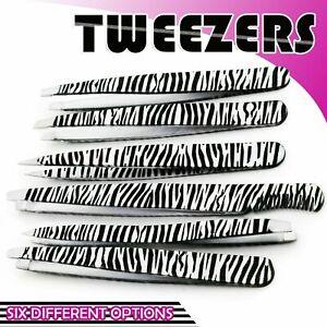 Professional Eyebrow Tweezers, Zebra Hair Tweezer, Eyebrows , Slanted, Pointing